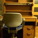 ◆学習机◆ライティングデスク◆チェア付き