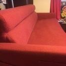 3人掛け 赤いソファ