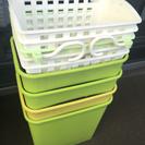 水耕栽培容器(ゴミ箱、フックかご)