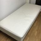 【0円】足付きマットレス型シングルベッド