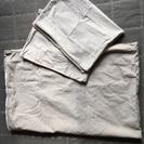 「交渉中」無印良品 洗いざらしシングル掛け布団&枕カバーset