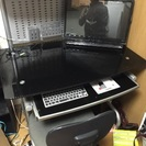 ガラス板 パソコンデスク