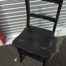 踏み台にも変わる便利な椅子 木製