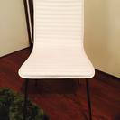 【白黒同時出品】白のテーブルチェア