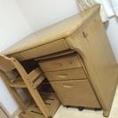 学習机・椅子(木製)
