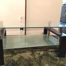 【かなり良好品】大きめのガラステーブル(ガラス面くすみなし)