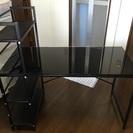 サイド棚付 パソコンデスク 120cm