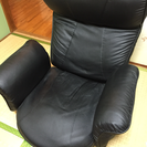 ブラック座椅子