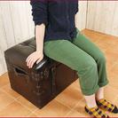 【☆3/28限定一個☆】宝箱椅子☆アンティークチェア