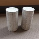 円柱のブロック 石