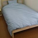 IKEA布団(ダブルサイズ)+枕2つ+布団カバー(複数あり)