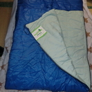 寝袋  サイズ75×190(青)  使用5回程度