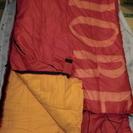 寝袋  サイズ80×190(赤)  使用5回程度