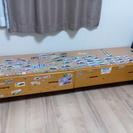 ワゴン収納ベット→DIY子供用おもちゃ入れデスク