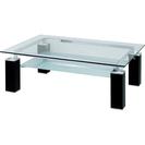 美品 ニトリ ガラス天板のセンターテーブル(ニューヨークF)