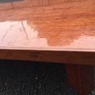 一枚板 重厚な座卓 無垢材