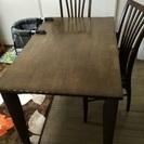 ダイニングテーブルと椅子2点