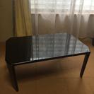 ブラック シンプル小さめテーブル