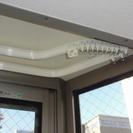 出窓用 カーテンレール ダブル 白