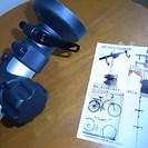 自転車2台を収納できる突っ張り棒