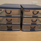 A4 プラスチックケース 引出し  書類 雑貨の収納に♪2つセット