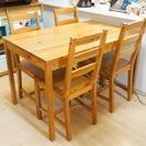 IKEA ダイニングテーブル&チェア4脚セット