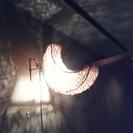 手渡し限定:月形の竹製?ルームランプ