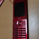 白ロム 京セラ製PHS WX03K LIBERIO(赤)
