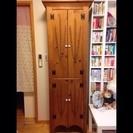 木製 扉付き棚☆