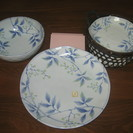 シンプルで爽やかな模様の和皿のセット
