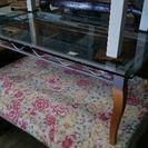 猫脚 ガラステーブル アンティーク