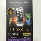 新品★ELECOM iPhone6 6s GLASS-like