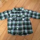ユニクロ 80センチ チェックシャツ