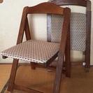 値下げ!木製折りたたみ椅子2脚