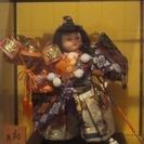 ガラスケース入り人形(五月人形)2体欲しい方に引き取り限定で差し上げます