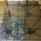 住宅展示場モデルルーム展示 ガラステーブル