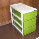 3段押入収納ケース(緑)