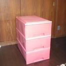 押入収納ケース3個(ピンク)