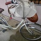 【 取引中】中古子供乗せ24/26自転車三段階変速付き