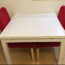IKEA 伸長式テーブル&椅子2脚セット