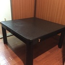 黒のローテーブル