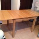 IKEA ダイニングテーブル BJURSTA 伸長式