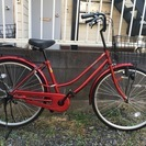 ほぼ新品自転車(赤)26インチ売ります