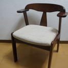 美品☆木製のチェア☆布製の座面が気持ち良いです☆2脚セット☆