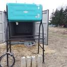 サンライズ500型ホームタンク基礎・給油ノズル付き錆少ない