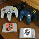 任天堂64 コントローラー×2 ソフト×2
