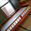 宮付き★木製二段ベッド