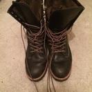 黒革のロングブーツ 27cm