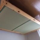 引き取り限定 家具の里 ダブルベッド ヒノキの畳ベッド
