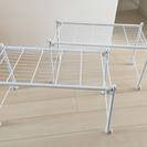 白いパイプ棚×2セット(幅70cm×高さ43cm×奥行き36cm)